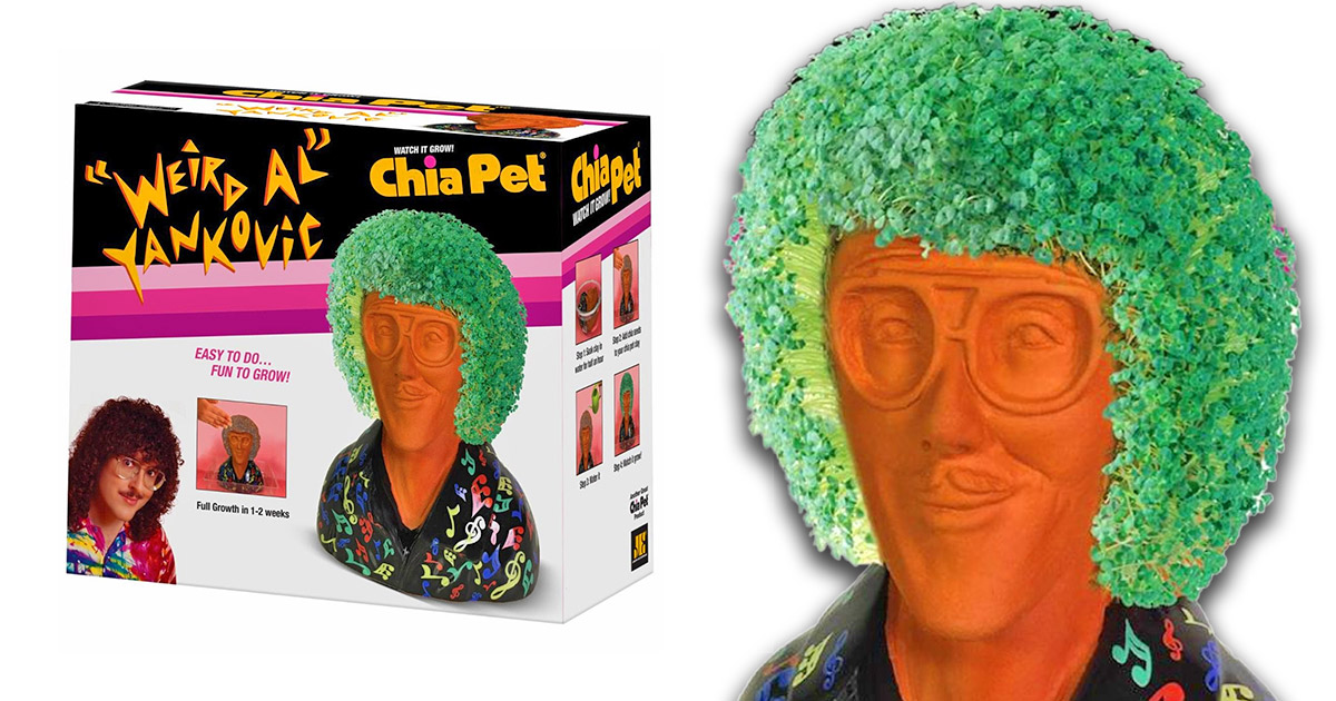 Weird Al Yankovic Now Has an Official Chia Pet