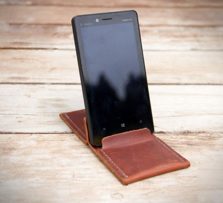 Wezel Leather Wallet And Phone Stand
