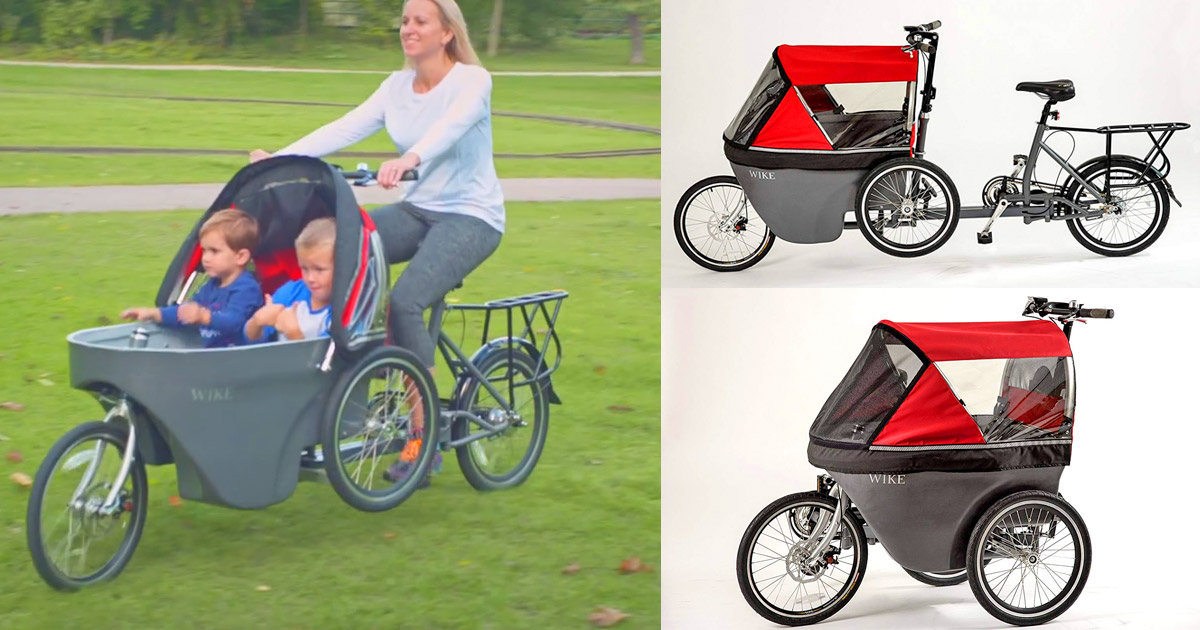 Wicycle Salamander Is a Bicycle That Converts Into a Stroller
