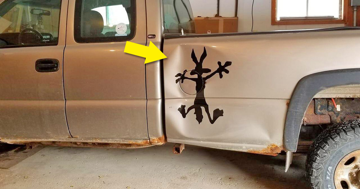 Wile-E Coyote Car Dent Vinyl Decal