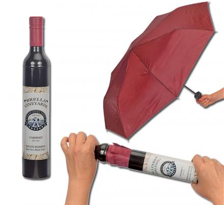 There's a Wine Bottle That Secretly Turns Into an Umbrella