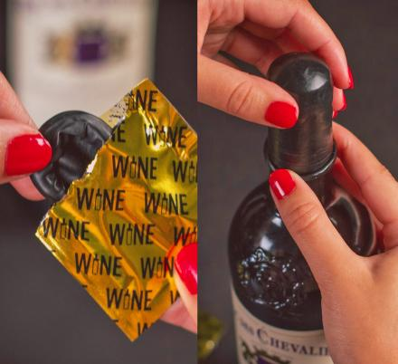 There Are Now Wine Condoms That'll Keep Your Wine From Going Bad After Opening