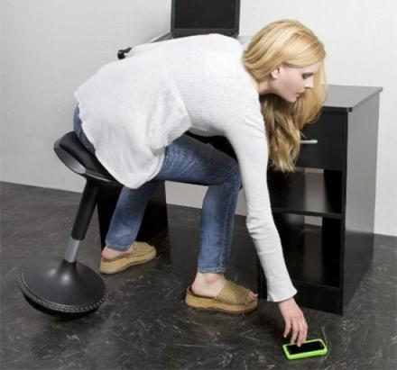 Wobble Stool: A Wobbling Ergonomic Office Stool To Sit or Lean