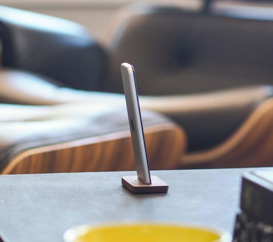 Wooden Stand Up Apple TV Remote Enlarge Image