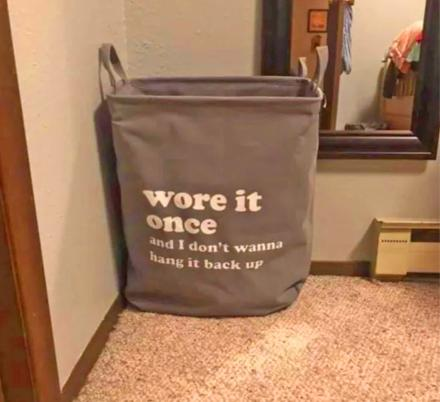 There's Now a 'Wore It Once' Laundry Bag That Can Replace That Chair In The Corner Of Your Bedroom