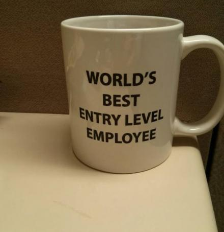World's Best Entry Level Employee Mug