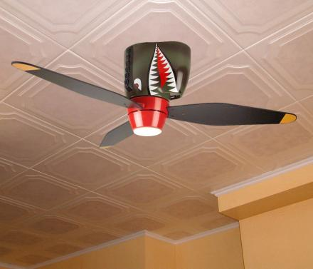 World War II Tiger Shark Plane Ceiling Fan