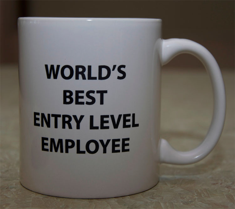 Worlds Best Entry Level Position Mug