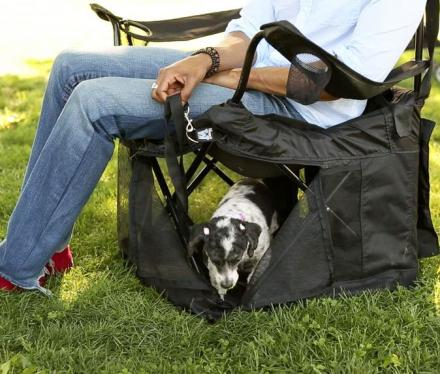 Marvelous Wrapsit Converts Your Lawn Chair Into A Pet Crate Machost Co Dining Chair Design Ideas Machostcouk