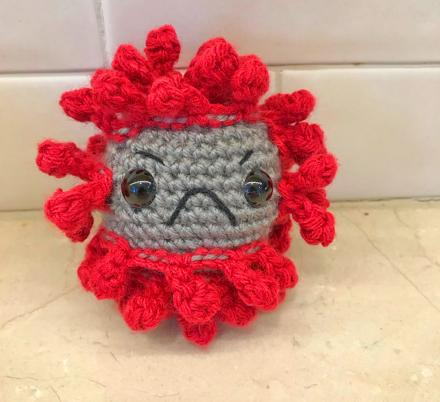People Are Making Crochet Coronavirus To Help Put a Face To The Virus