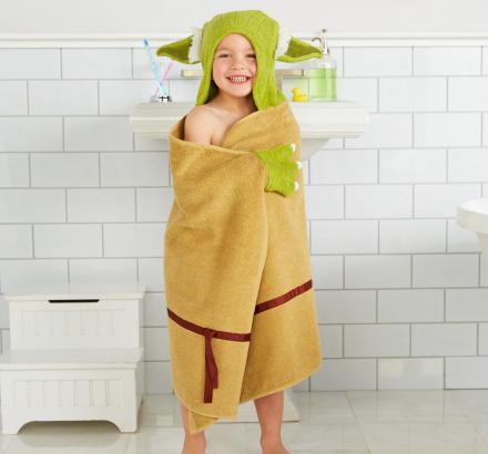 Yoda Bath Towel Wrap Turns Your Kid Into Yoda After Bath-time