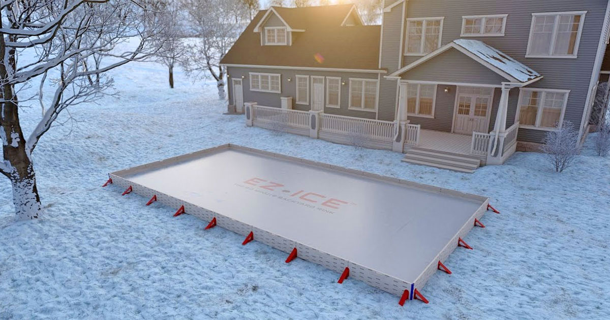 The EZ Ice Is a DIY Backyard Ice Rink That Sets Up In Just 60 Minutes