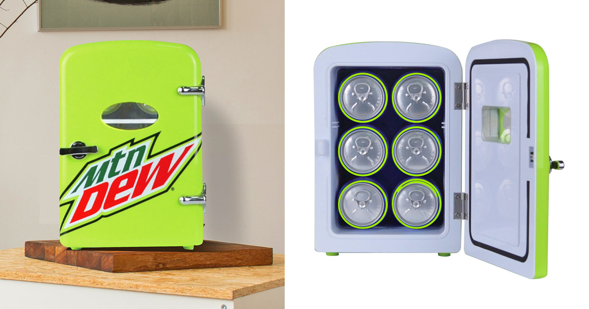 You Can Now Get a Retro Mountain Dew Mini Fridge For Your Desk at The Office