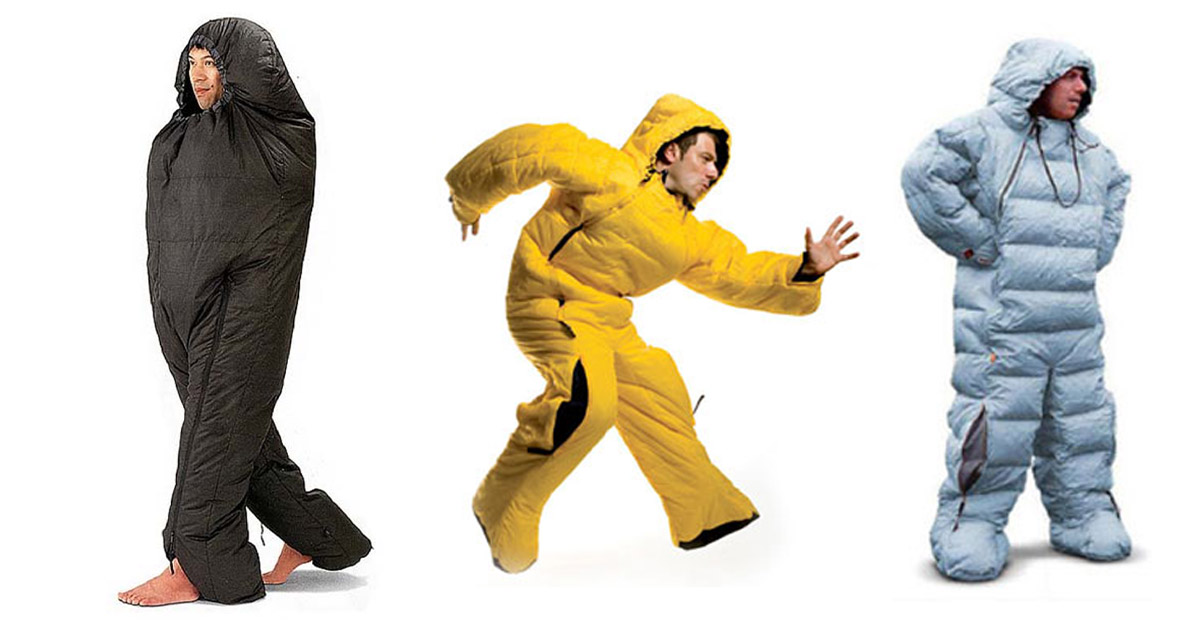 This Sleeping Bag Onesie With Legs Lets You Wear Your Bed While Camping