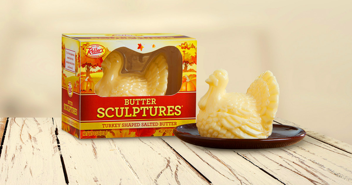 You Can Now Get a Turkey Shaped Butter Sculpture For Your Thanksgiving Table