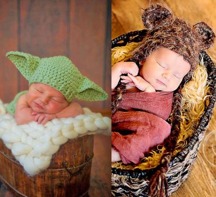 You Can Now Get Adorable Knit Hats To Turn Your Newborn Into Baby Yoda Or an Ewok
