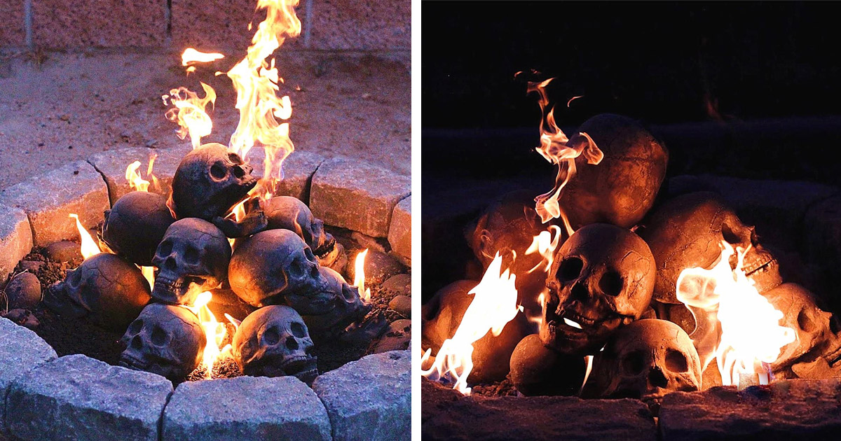 You Can Now Get Fireproof Human Skulls For Your Fire-pit, and They