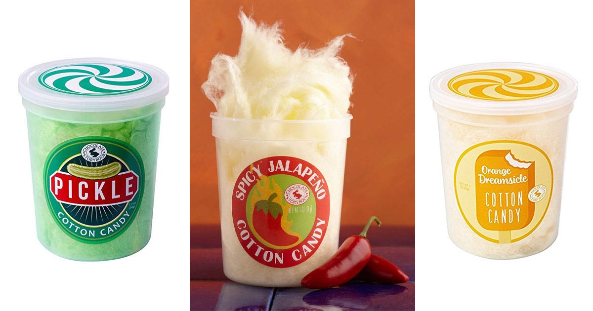 You Can Now Get Unique Cotton Candy Flavors, Including Jalapeño, Pickle, Bacon and more