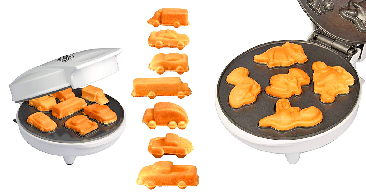 You Can Now Get Waffle Makers That Make Mini Dinosaurs or Mini Cars and Trucks