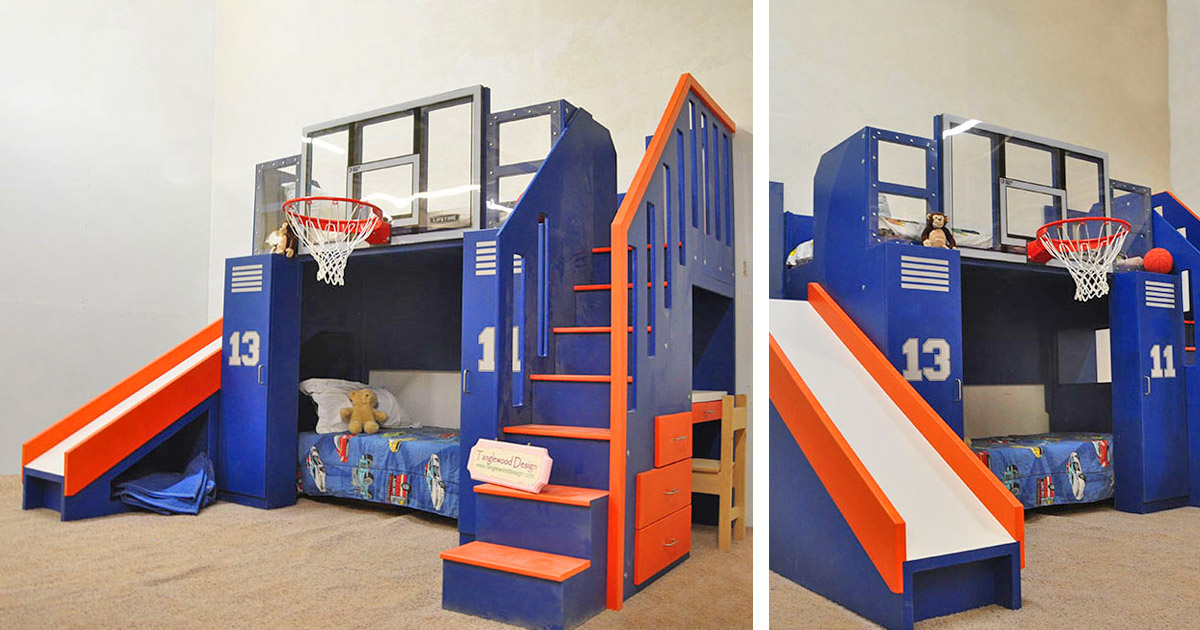 You Can Now Get Your Kid a Basketball Hoop Bunk Bed