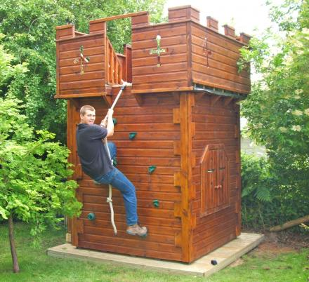 You Can Now Get Your Kids a Giant Play Castle That Has a Climbing Wall