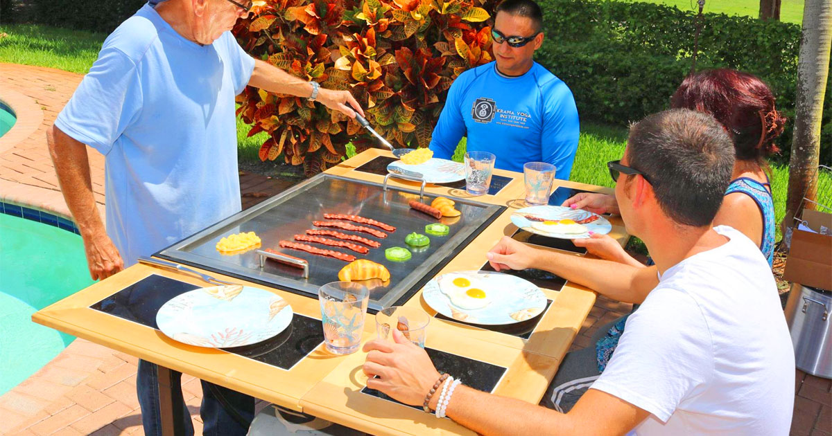 You Can Now Get Your Very Own Hibachi Grill For Your Next Backyard BBQ