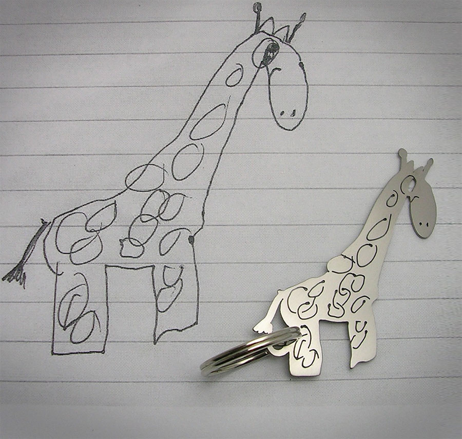 Your Child S Drawing As A Keychain