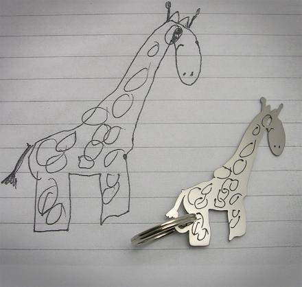 This Company Turns Your Child's Drawing Into a Unique Piece of Jewelry or Key-chain