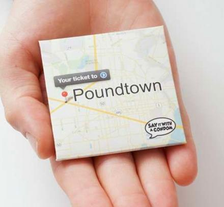 Your Ticket To Poundtown Condom With Map