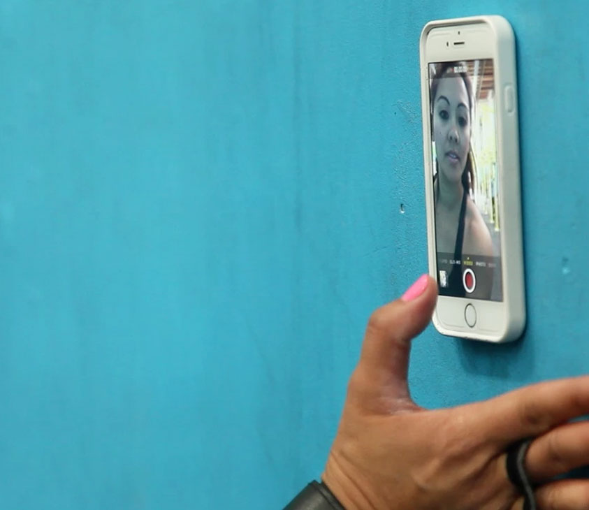 zero g an iphone case that allows you to stick your phone to any