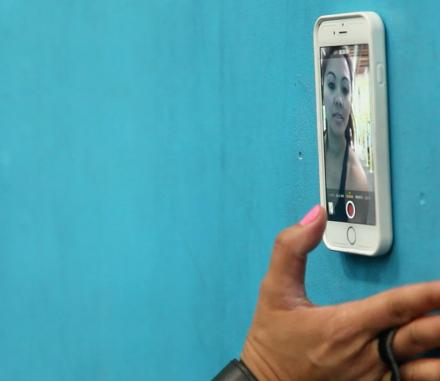 Zero G: An iPhone Case That Allows You To Stick Your Phone To Any Surface
