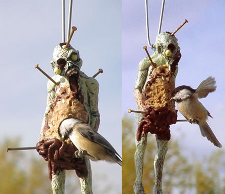 Zombie Body Bird Feeder